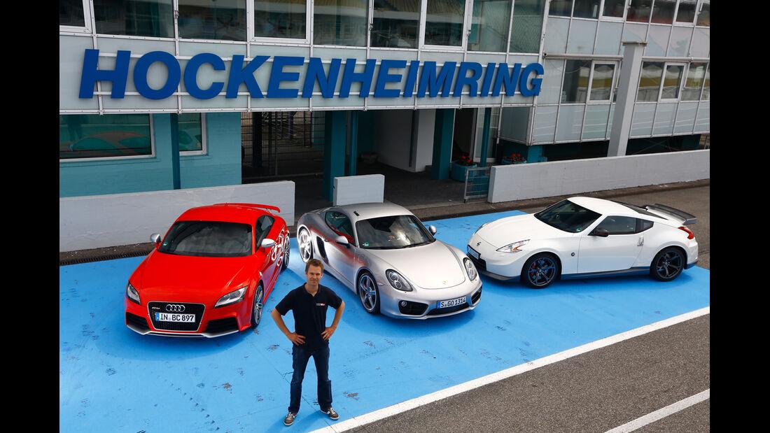 Porsche Cayman S, Audi TT RS, Nissan 370Z Nismo, Christian Gebhardt