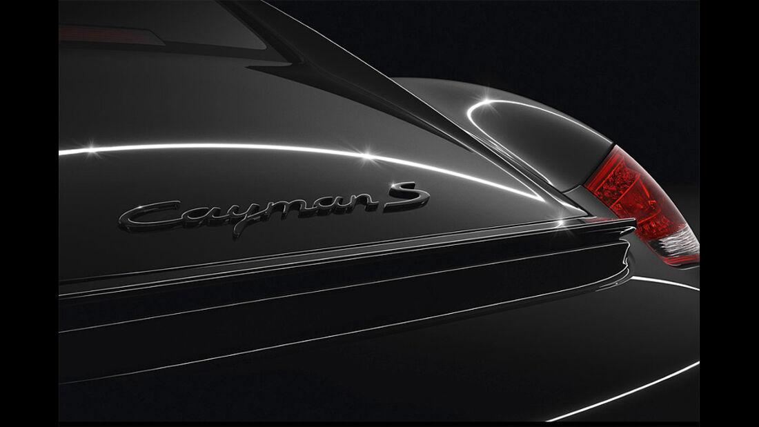 Porsche Cayman S Black Edition, Heckspoiler