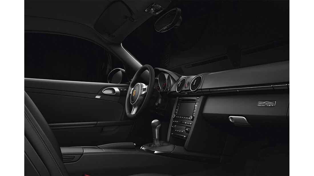 Porsche Cayman S Black Edition, Innenraum