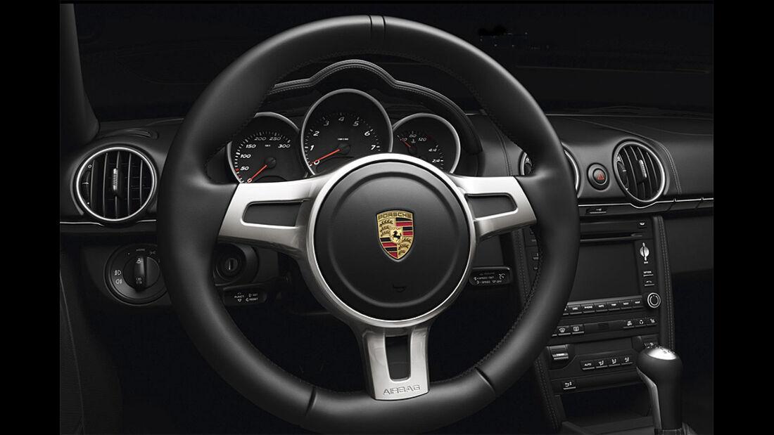 Porsche Cayman S Black Edition, Lenkrad
