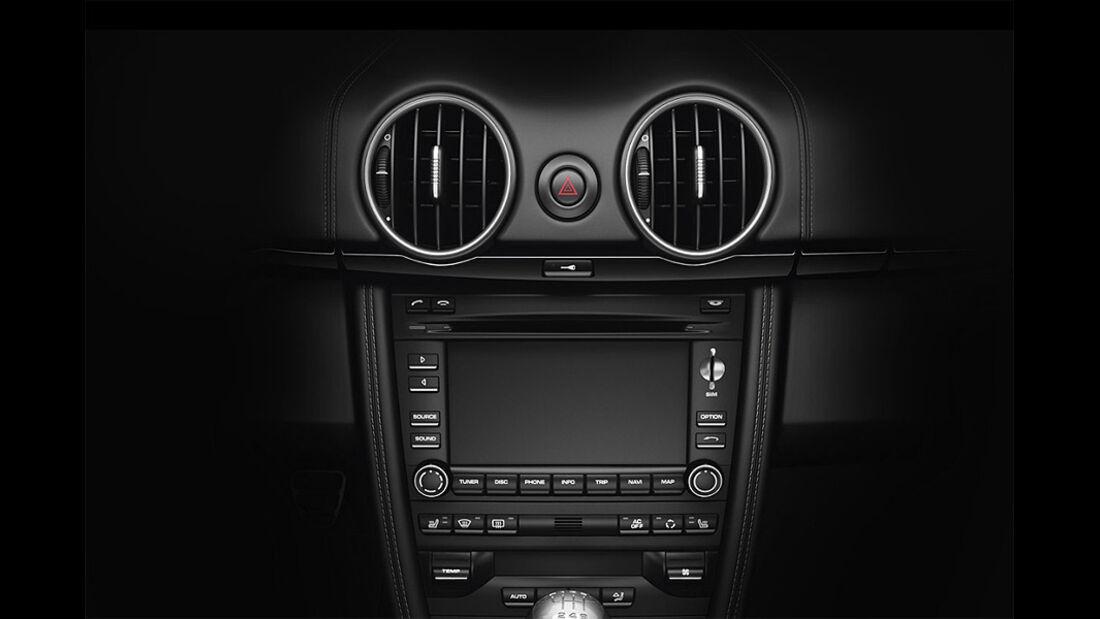 Porsche Cayman S Black Edition, Mittelkonsole, Navigationssystem