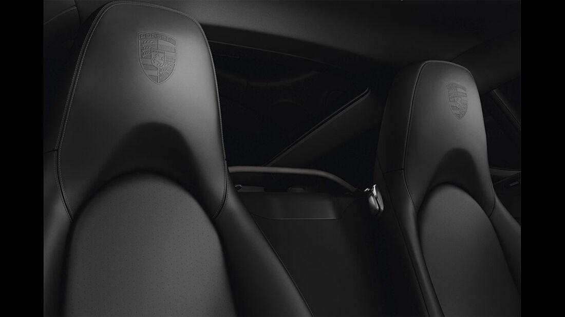 Porsche Cayman S Black Edition, Sitze