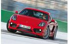 Porsche Cayman S, Frontansicht, Driften