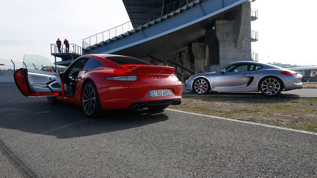 Porsche Cayman S, Porsche 911 Carrera S, Heckansicht