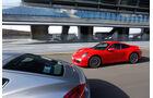 Porsche Cayman S, Porsche 911 Carrera S, Seitenansicht