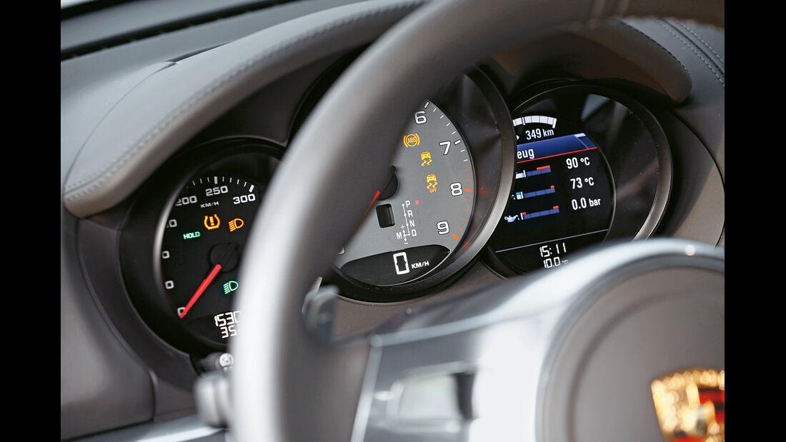 Porsche Cayman S, Rundinstrumente