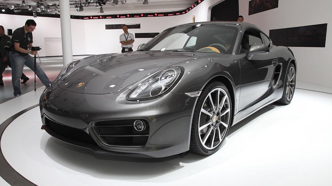 Porsche Cayman, Sitzprobe L.A. Motor Show