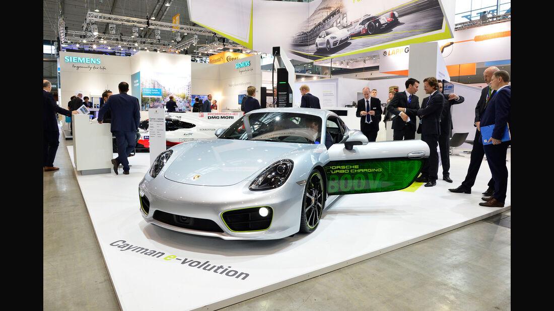 Porsche Cayman e-volution - Sportwagen - Forschungsfahrzeug - Elektromotor