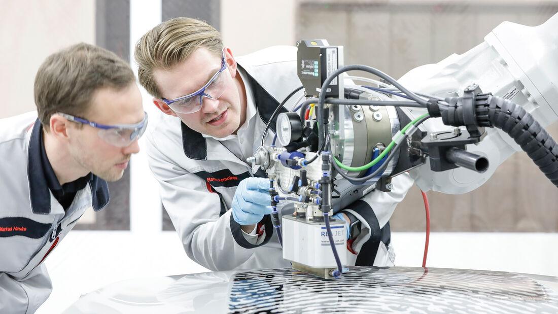 Porsche Exclusive Manufaktur Direct Printing Fingerabdruck
