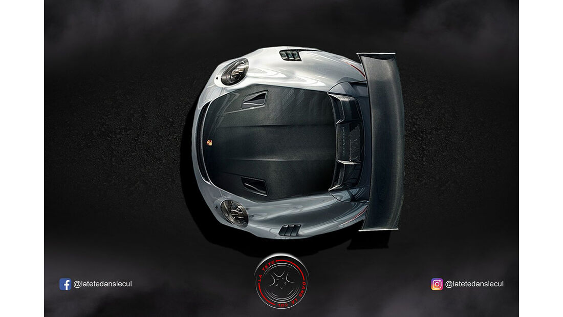 Porsche GT2 RS Retusche