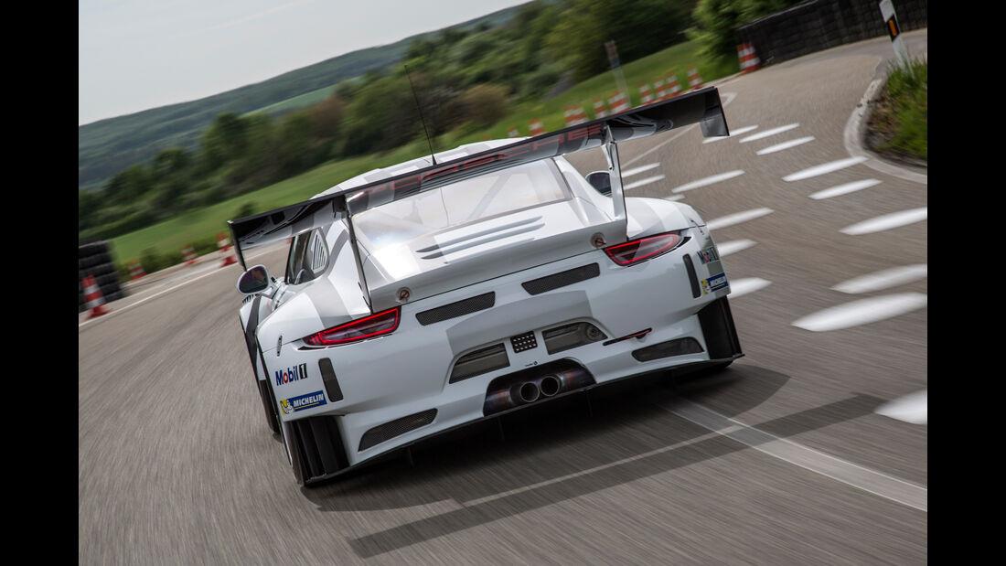 Porsche GT3 R Rennstrecke Seite