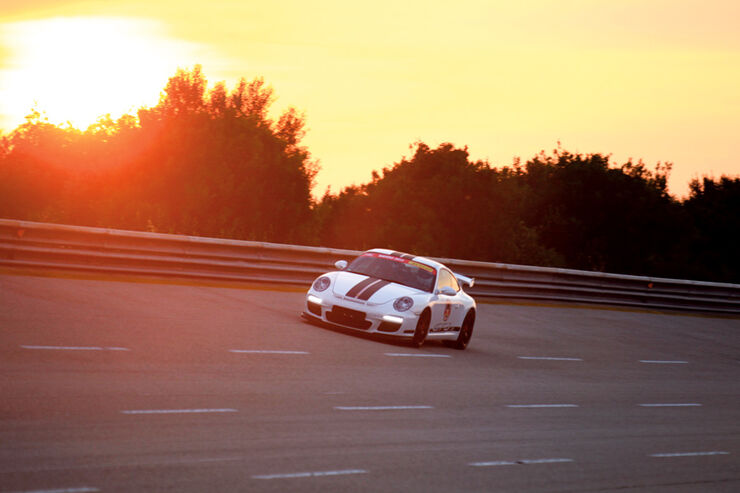 Porsche GT3 RS, Abendlicht, Sonnenuntergang