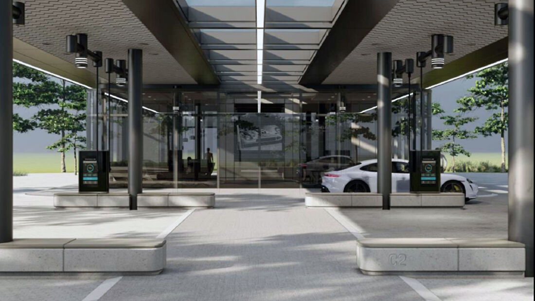 Porsche Lade-Lounge