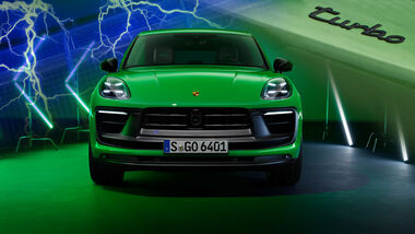 Porsche Macan 2021 Elektro Turbo Collage Aufmacher