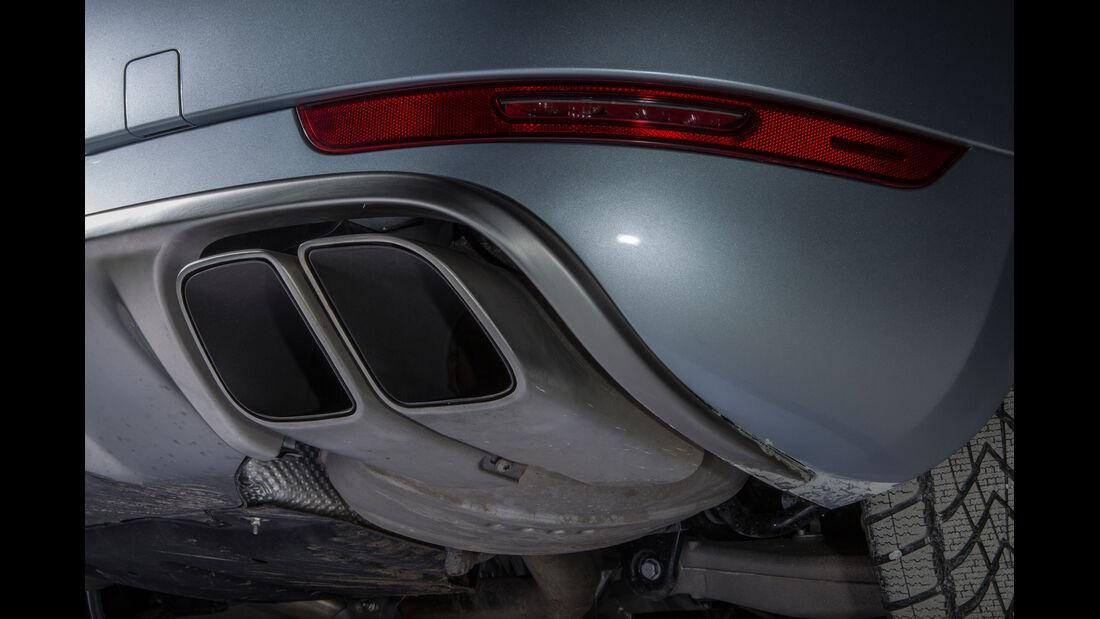Porsche Macan, Auspuff, Endrohre