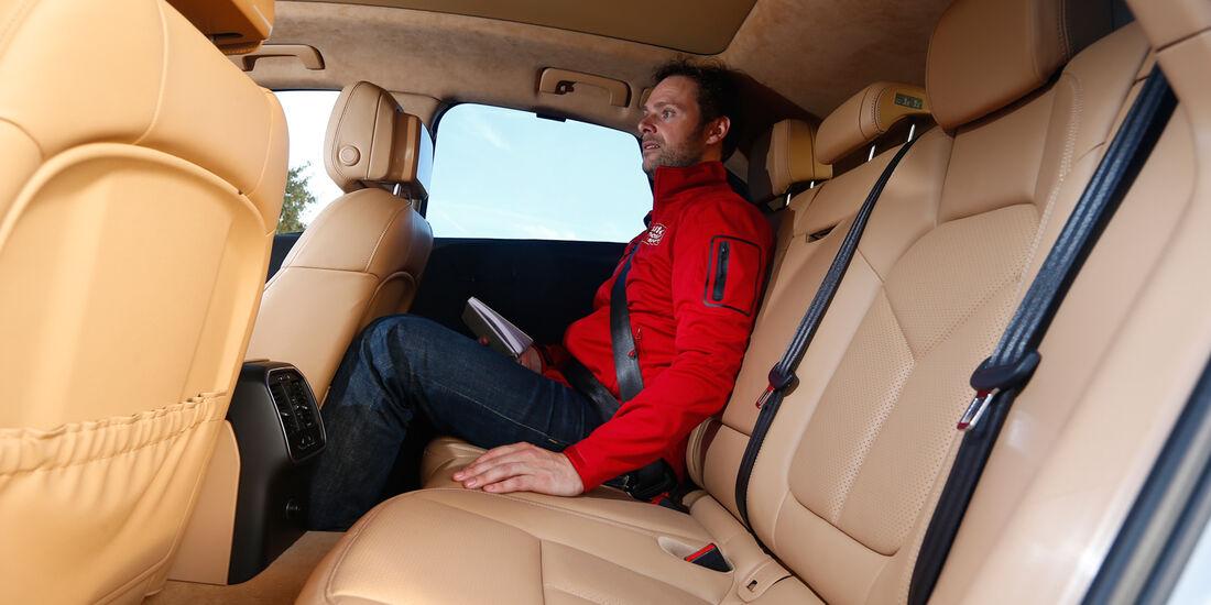 Porsche Macan, Rücksitz, Beinfreiheit