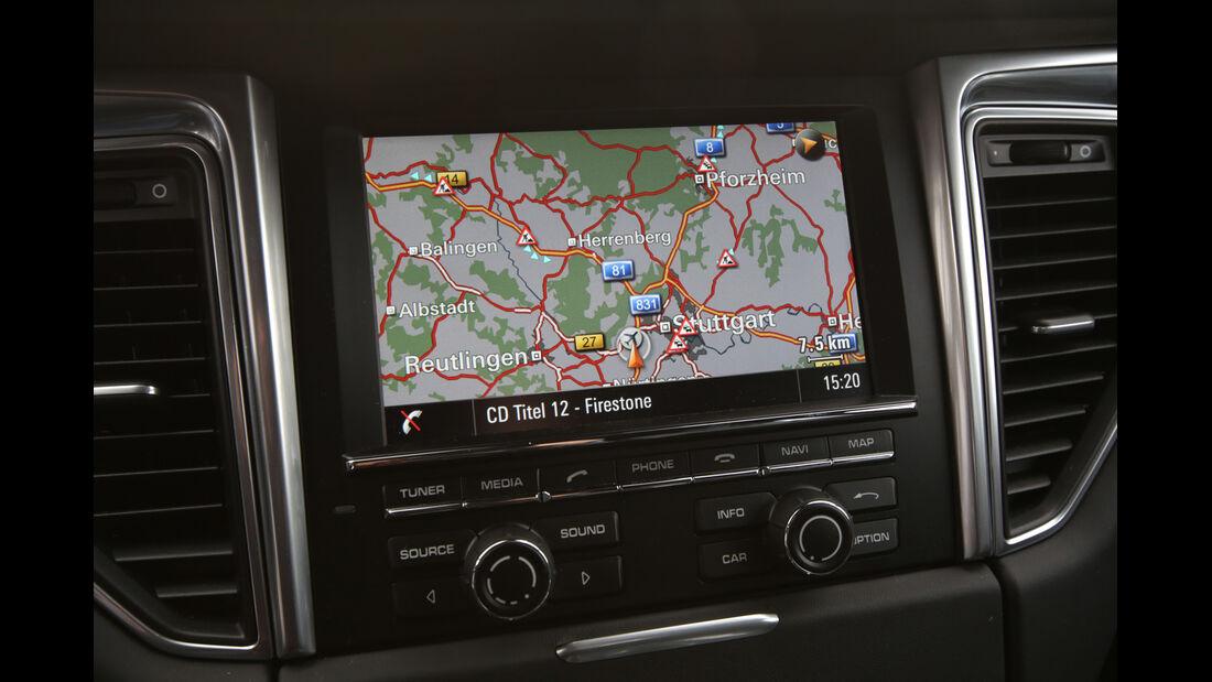 Porsche Macan S Diesel, Navi, Bildschirm