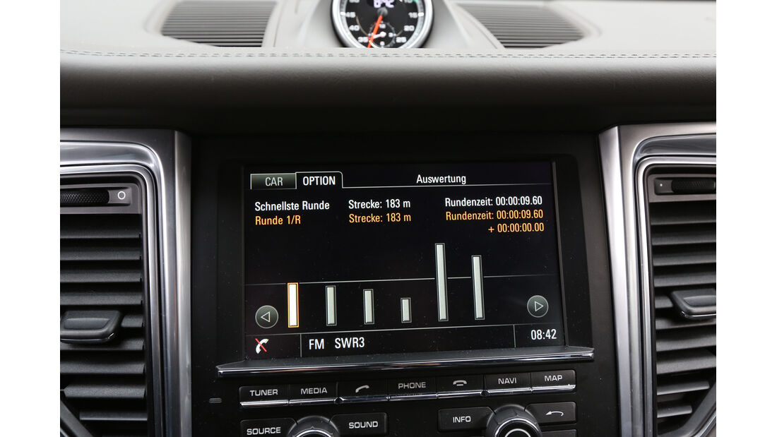 Porsche Macan Turbo, Anzeige, Monitor