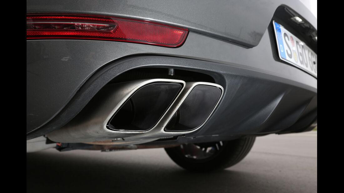 Porsche Macan Turbo, Auspuff, Endrohr