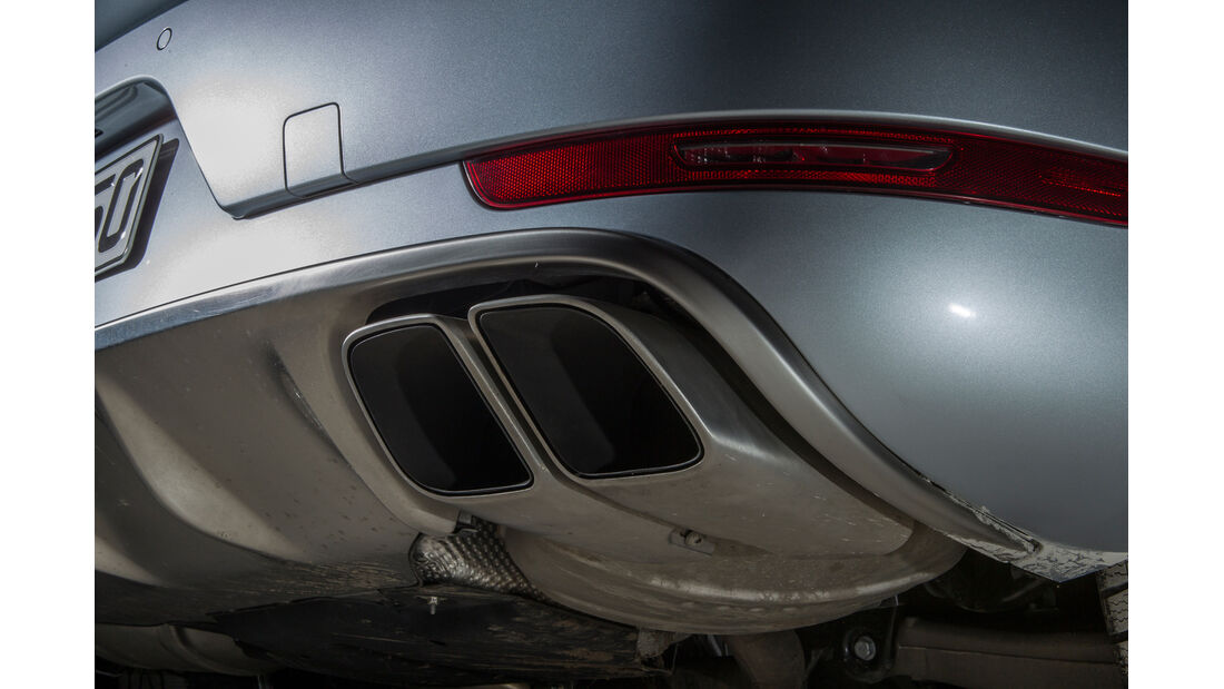 Porsche Macan Turbo, Auspuff, Endrohre