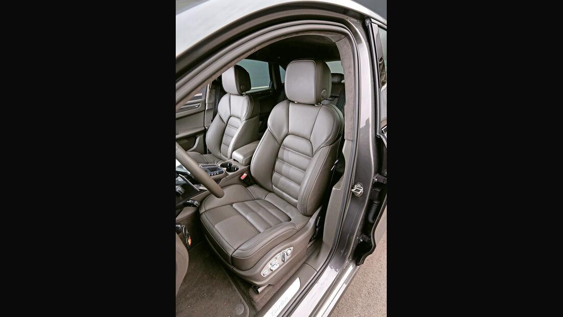Porsche Macan Turbo, Fahrersitz