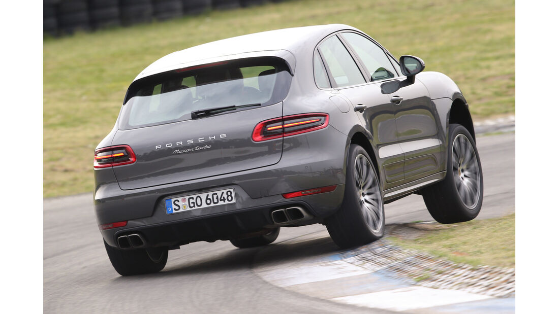 Porsche Macan Turbo, Heckansicht