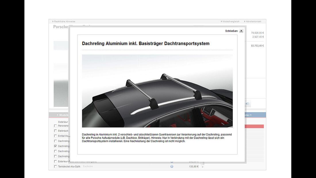 Porsche Macan Turbo, Konfigurator, Dach