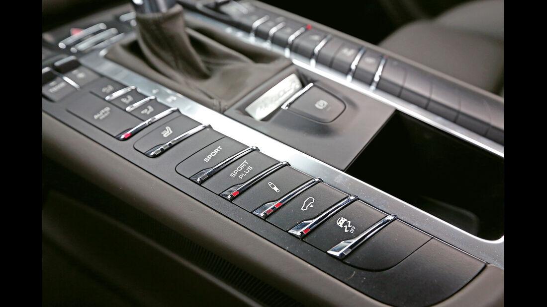 Porsche Macan Turbo, Mittelkonsole, Bedienelemente