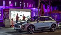 Porsche Macan Turbo, Seitenansicht, Grillbude