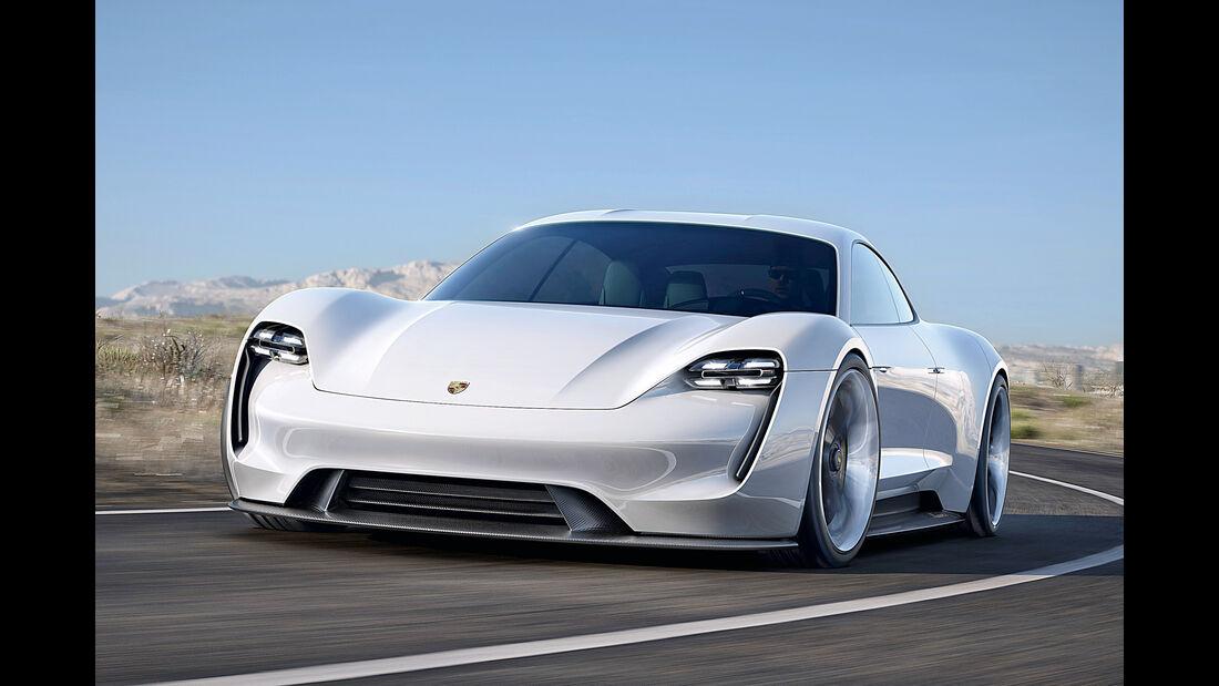 Porsche Mission E, Frontansicht
