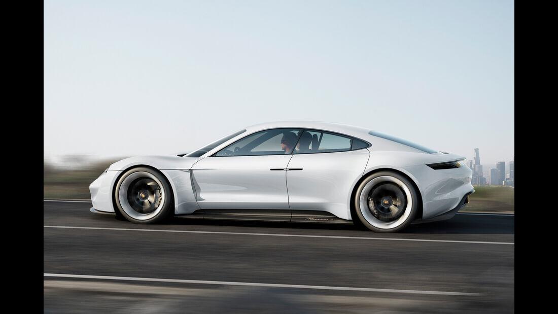 Porsche Mission E, Seitenansicht