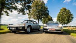 Porsche Mittelmotor-Vergleich 914 Boxster (986)