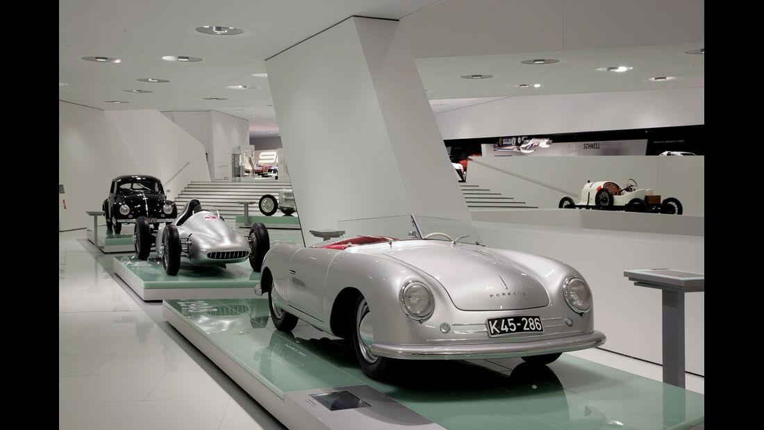 Porsche-Museum, Nr. 1, Cisitalia, VW Käfer
