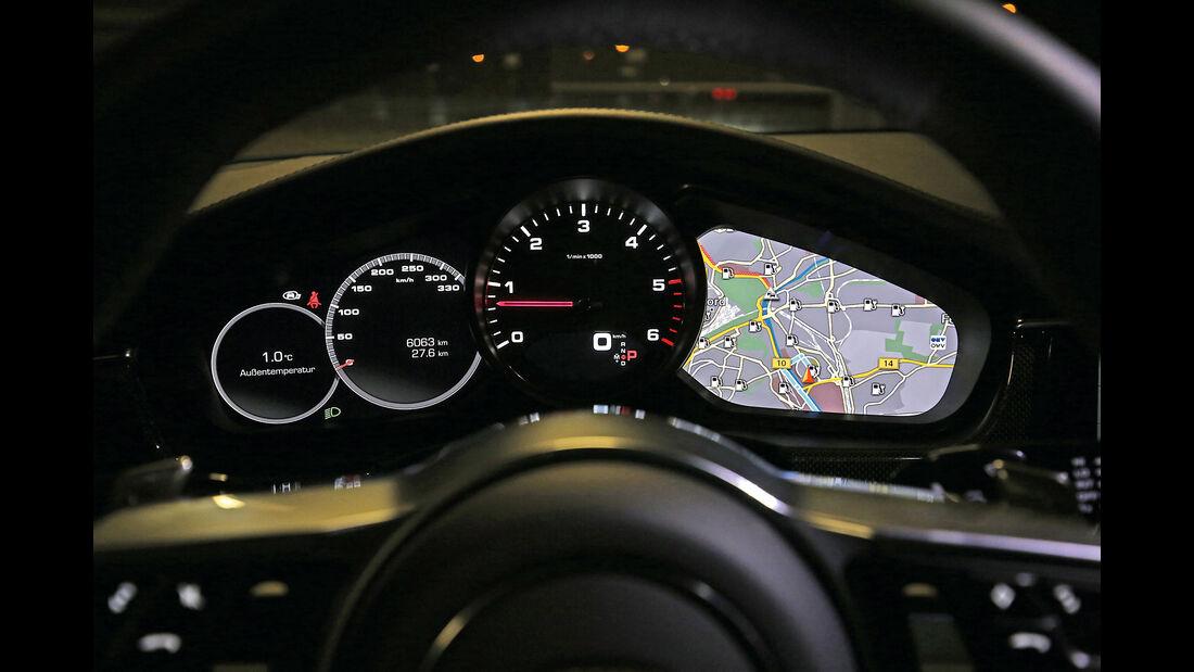 Porsche Panamera 4S Diesel, Anzeigeinstrumente