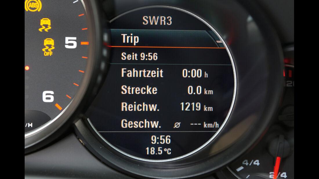 Porsche Panamera Diesel, Anzeigeinstrument, Bildschirm