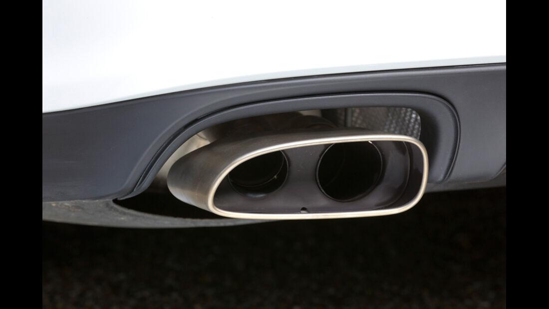 Porsche Panamera Diesel, Auspuff