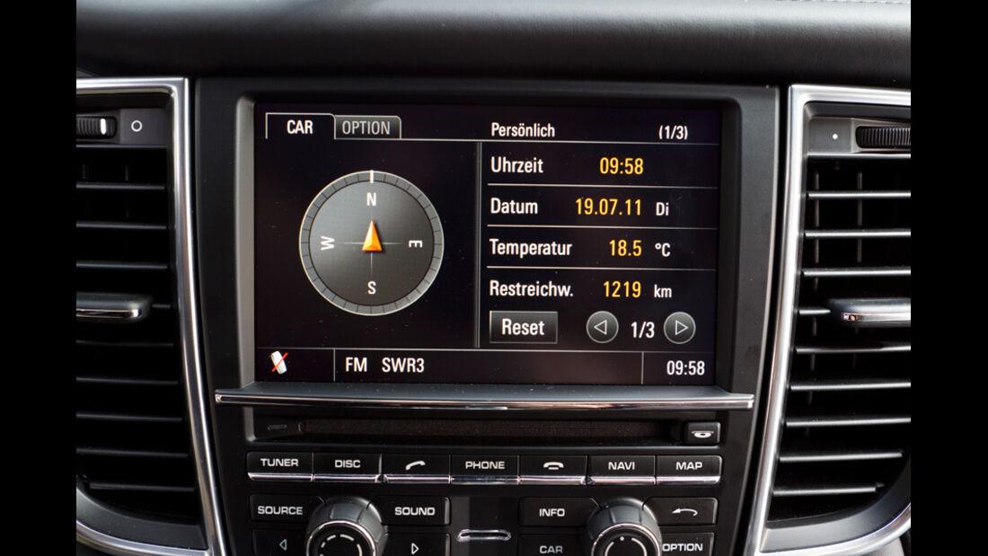 Porsche Panamera Diesel, Bildschirm, Navi