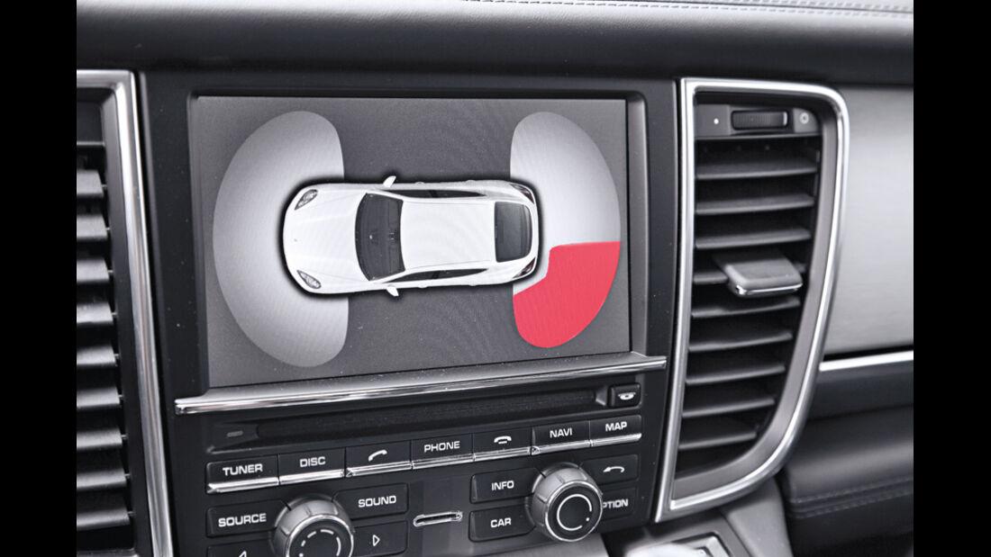 Porsche Panamera Diesel, Einparkhilfe, Display
