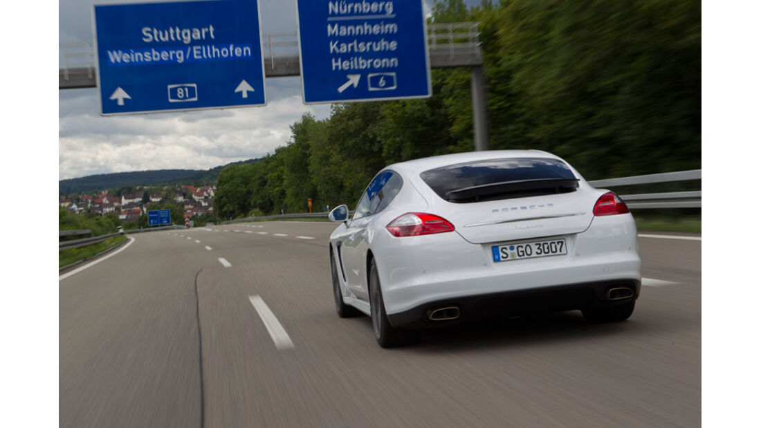 Porsche Panamera Diesel, Heck, Rückansicht