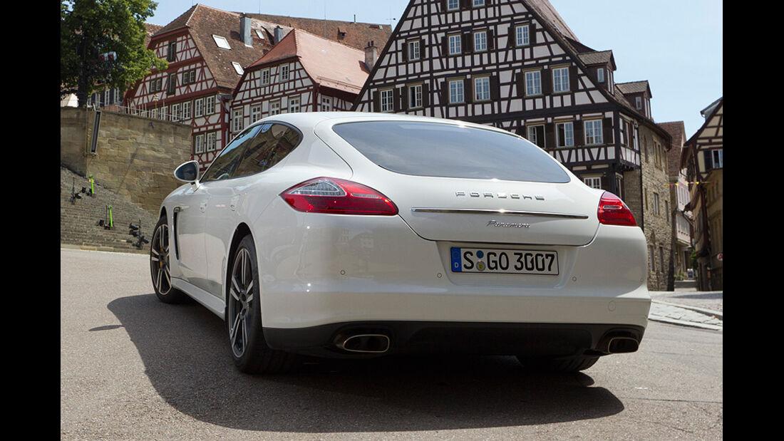 Porsche Panamera Diesel, Heckansicht