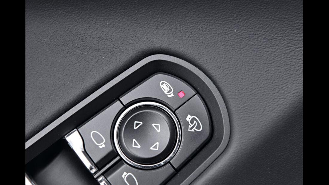 Porsche Panamera Diesel, Knopf, Tote-Winkel-Kennung