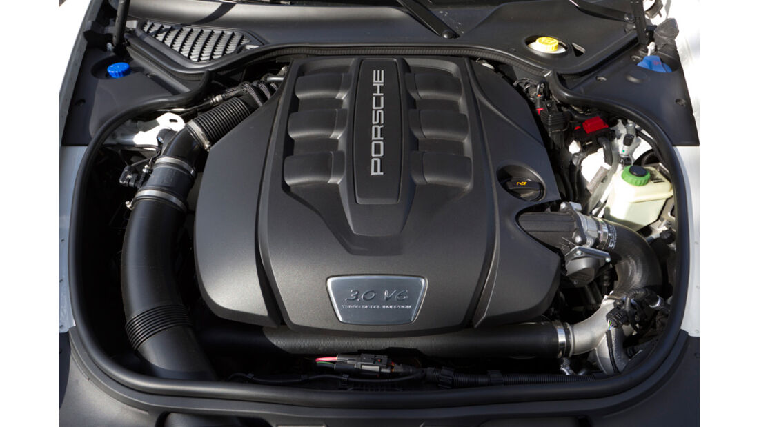 Porsche Panamera Diesel, Motor, Motorraum