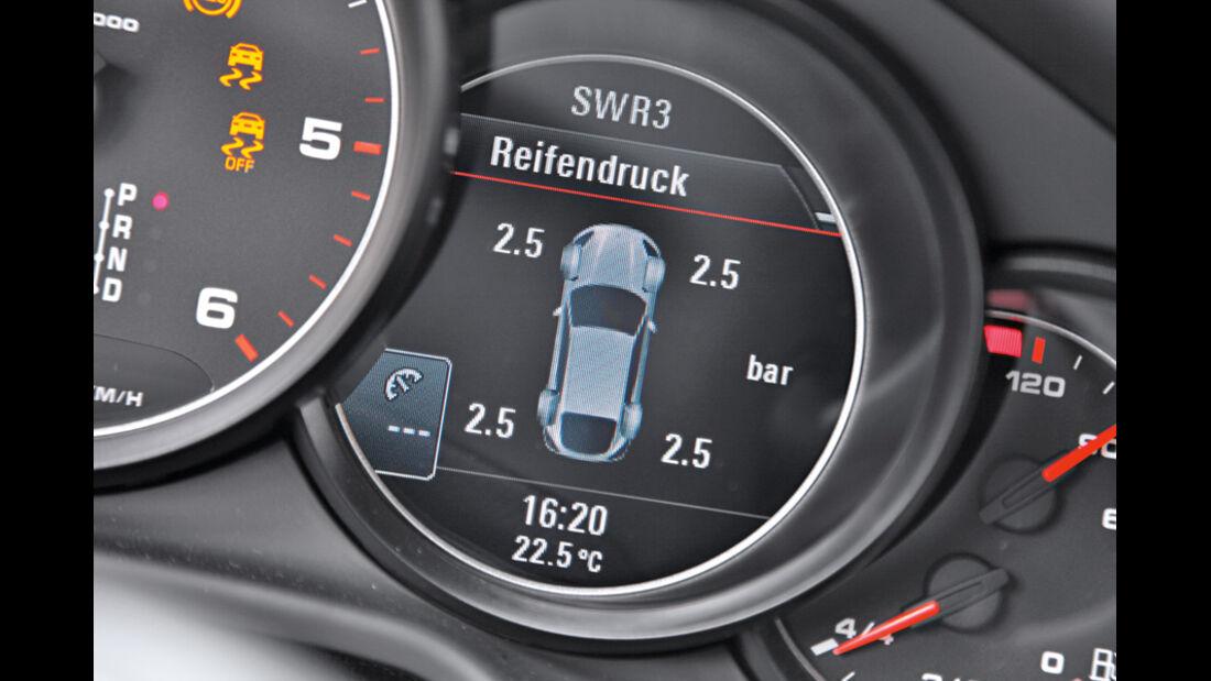 Porsche Panamera Diesel, Reifendruck, Display