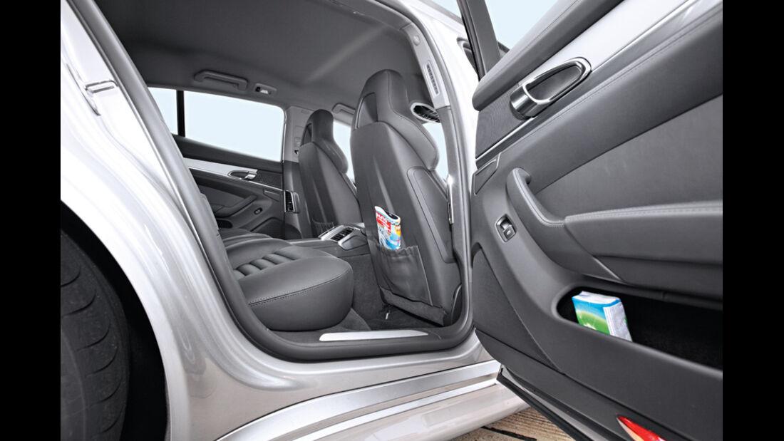 Porsche Panamera Diesel, Sitztaschen, Seitentür