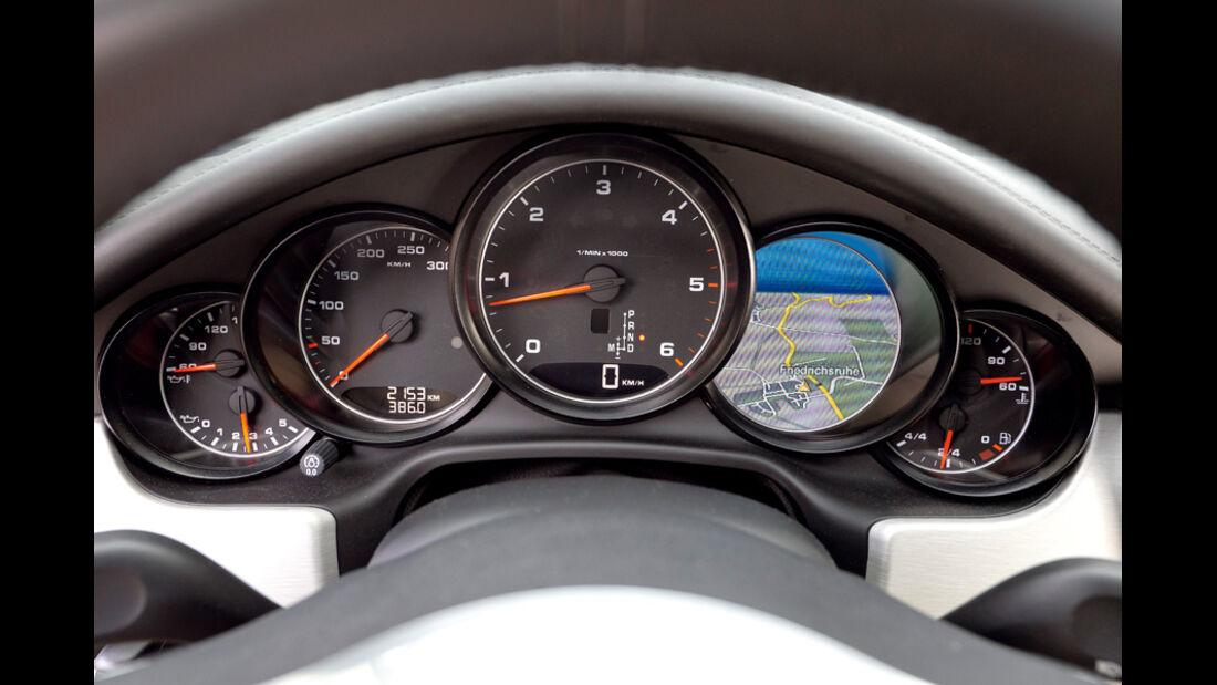 Porsche Panamera Diesel, Tacho, Anzeigeinstrumente
