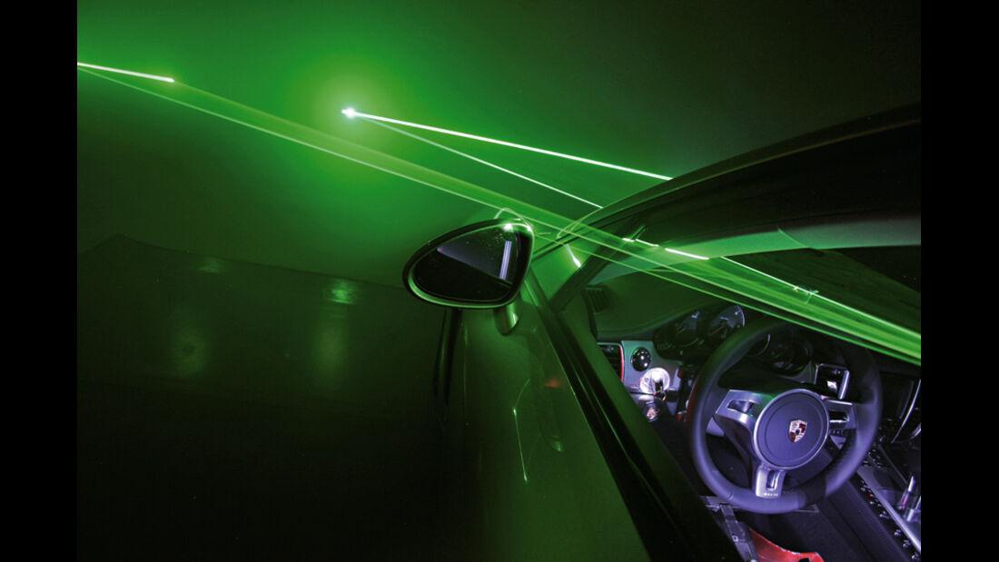 Porsche Panamera Diesel, Tunnel, Aussenspiegel