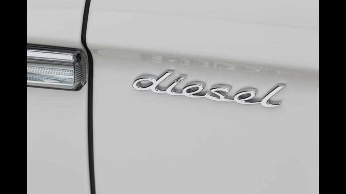 Porsche Panamera Diesel, diesel, Schriftzug