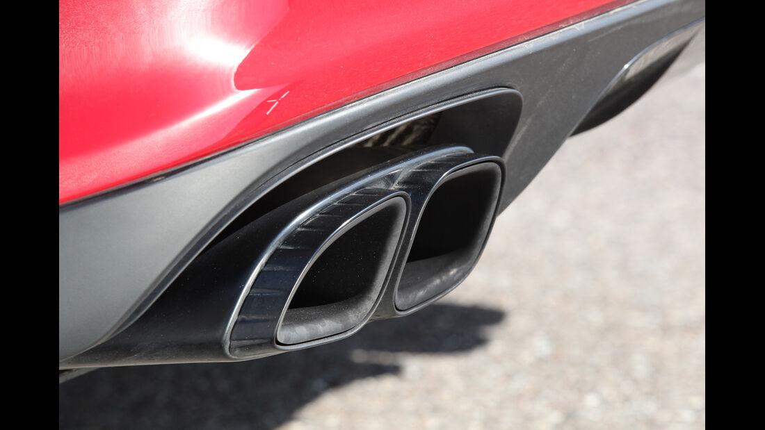Porsche Panamera GTS, Auspuff, Endrohre