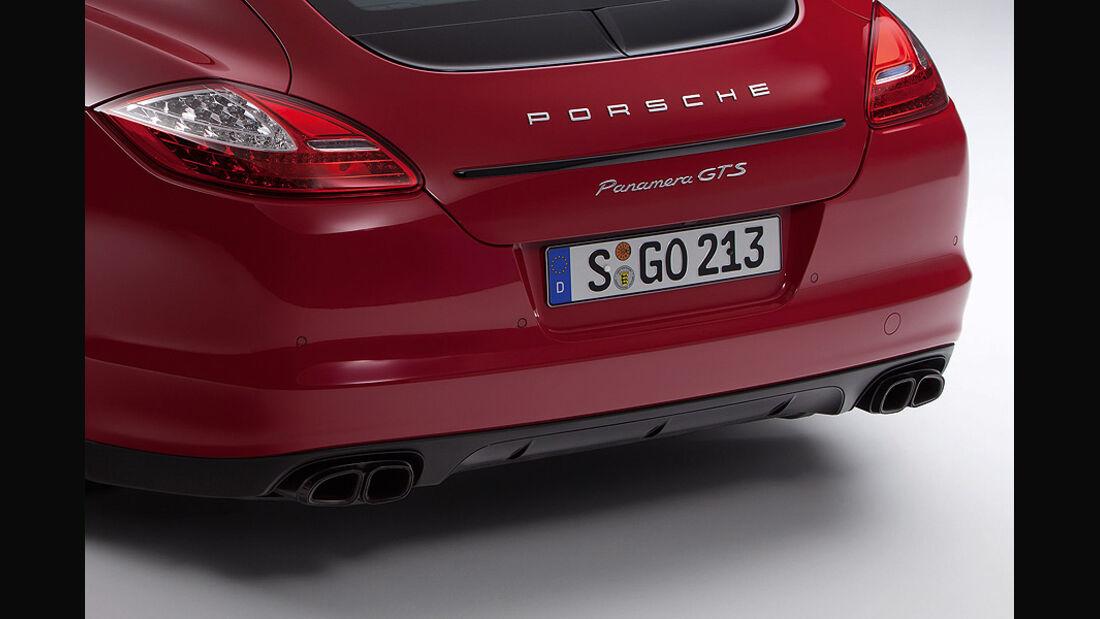 Porsche Panamera GTS, Heck, Rücklicht, Auspuff