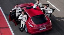 Porsche Panamera GTS, von oben, Fahrer
